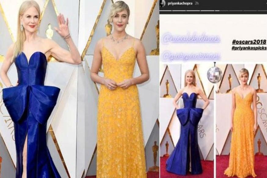 (Photo: Actor Nicole Kidman (left) sporting an Armani Prive dress/ Writer-director Greta Gerwig in a Rodarte dress/ Instagram)