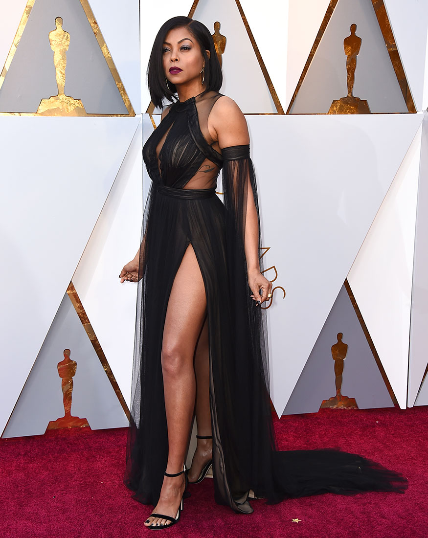 Taraji P. Henson arrives for the 90th Academy Awards held at the Dolby Theatre in Los Angeles on March 4, 2018. (Image: AP)