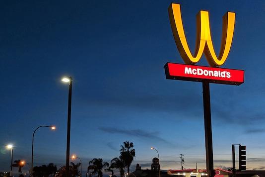 The inverted Golden Arches symbol. (Credits: Mcdonald's)