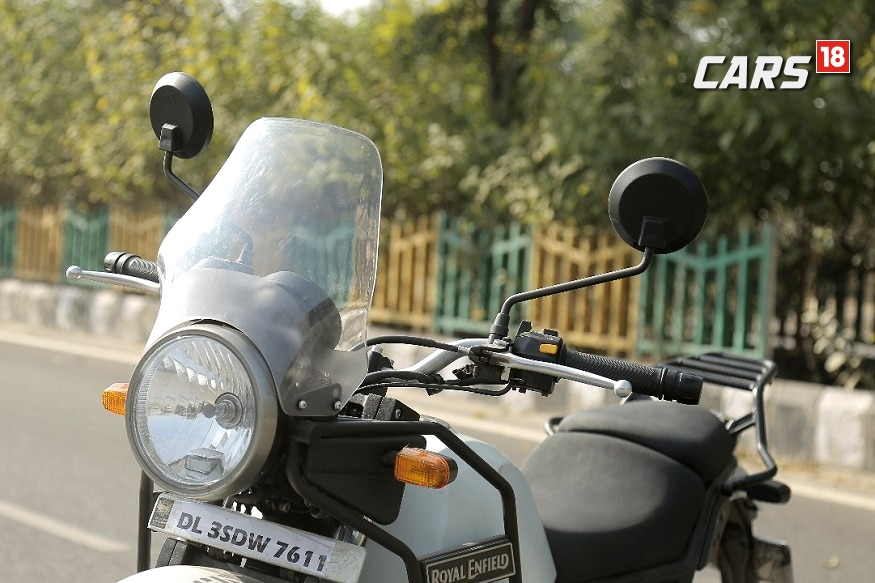 Royal Enfield Himalayan gets upright sitting position. (Image: Siddharth Safaya/ News18.com)