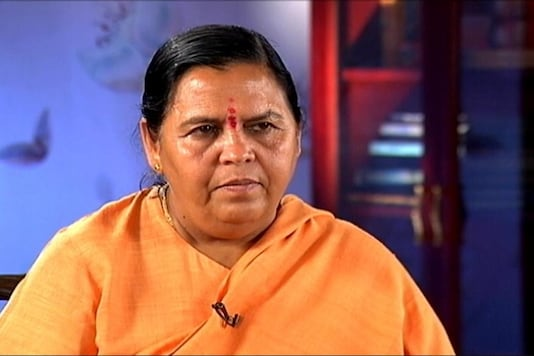 File photo of BJP leader Uma Bharti.