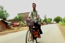 This Man Converted His Bicycle Into A Motorcycle