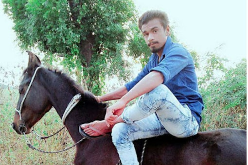 File photo of Pradip Rathod, a Dalit, who was allegedly killed for riding a horse.