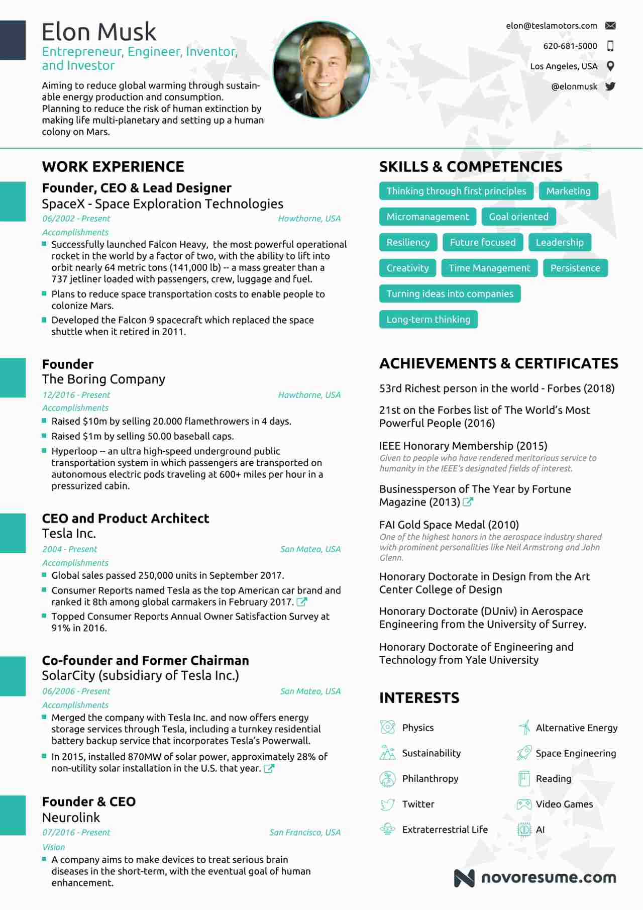 elon-musk-one-page-resume