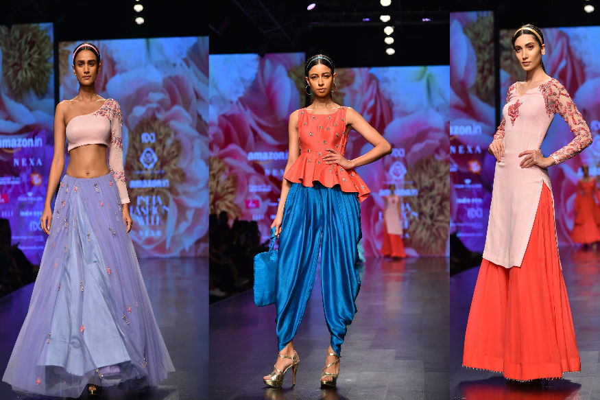 (Photo: Karishma-Deepa Sondhi showcase their line 'Rasbhari' at AIFW A/W '18/ Yogen Shah)