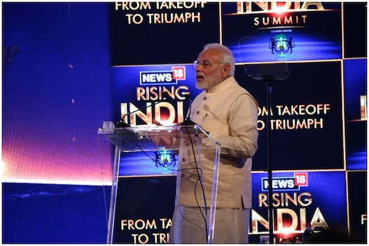 Prime Minister Narendra Modi at the News18 Rising India Summit on Friday,