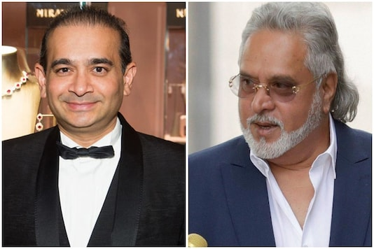 Economic fugitives Nirav Modi (left) and Vijay Mallya.