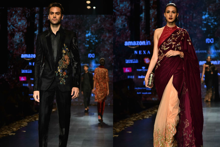 (Photo: Shyamal & Bhumika showcase their collection at AIFWAW18/Yogen Shah)