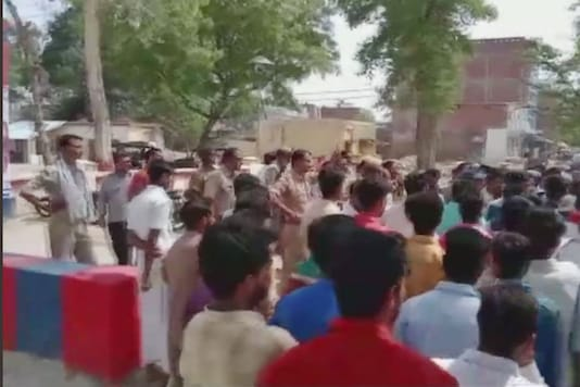 Locals gathered in huge numbers at Saraimeer and sought immediate arrest of Sahu for his alleged involvement in posting derogatory comments against Prophet Mohammed on Facebook.