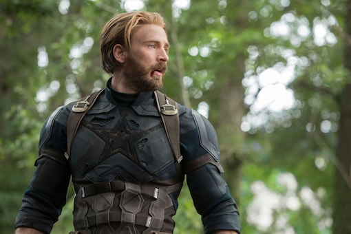 """This image released by Disney shows Chris Evans in a scene from Marvel Studios' """"Avengers: Infinity War."""" (Image: AP)"""