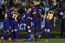 Barcelona Survive Celta Vigo Scare After Sergi Roberto is Sent Off