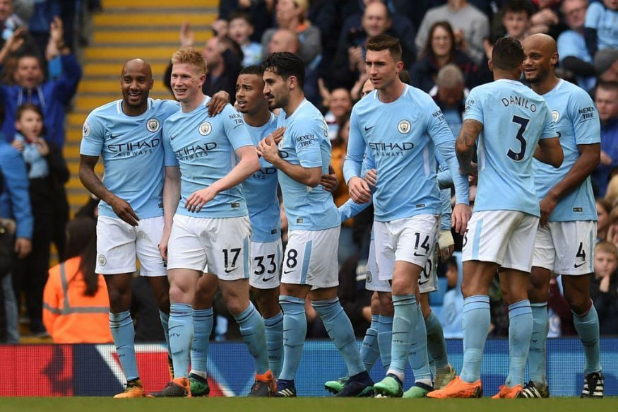 Manchester City Celebrate Title by Pumping in Five Past Swansea