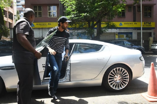 Bollywood Actor Hrithik Roshan with his Aston Martin Rapide S. (Image: <a href=