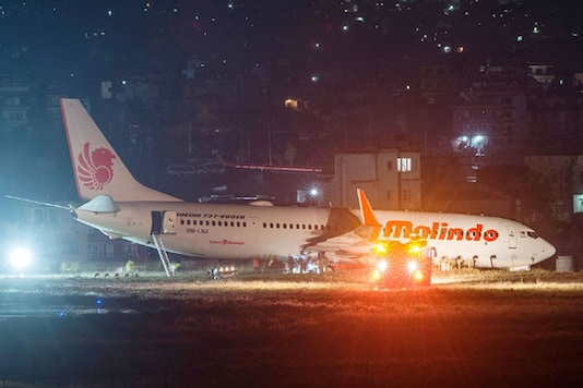 The aircraft apparently could not stop because of the take off speed and load at the final moment and overran 50 metre south from the runway threshold and rested in a grassland at around 22:08 PM.