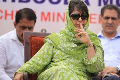File photo of former Jammu and Kashmir CM Mehbooba Mufti. (PTI)