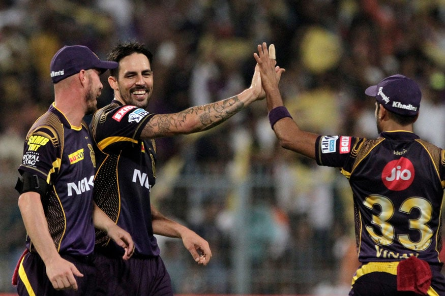 Mitchell Johnson celebrates (Image: AP)