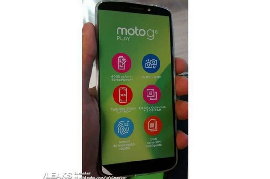 Forget renders, this is how Moto G6 Play looks in the flesh