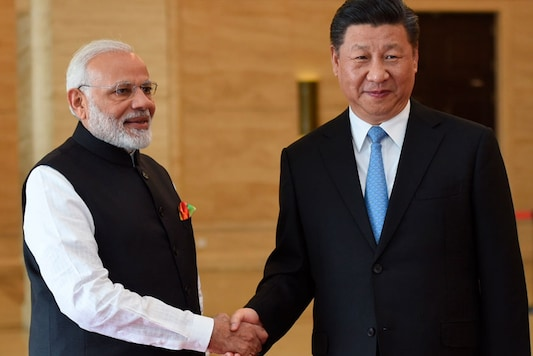 File photo of PM Modi with Xi Jinping in Wuhan (Image: AP)