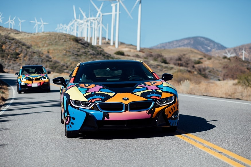 Bmw I8 And I3 Gets Exclusive Paint Job For Coachella Valley Music