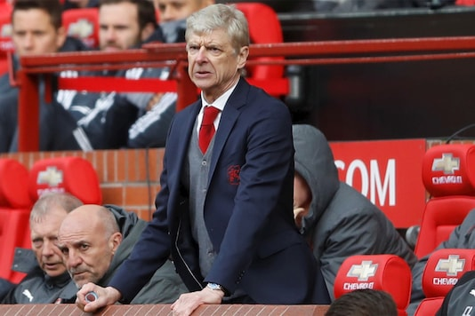 Arsene Wenger during his final game as manager at Old Trafford. (Reuters)