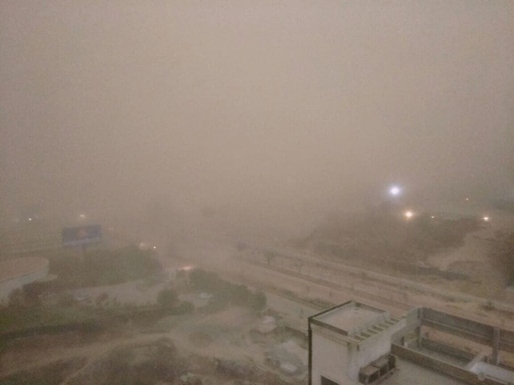 Dust Storms Hit Delhi-NCR