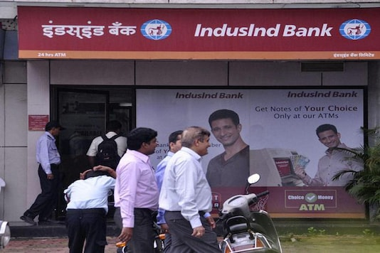 File photo of an Indusind Bank branch.