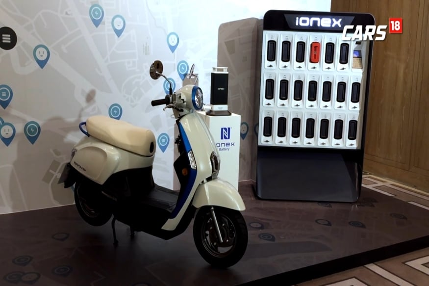 Kymco's Ionex battery swapping technology. (Image: Manav SInha/ News18.com)