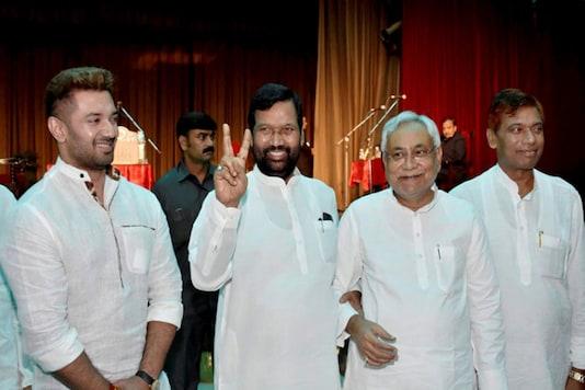 A file photo of Bihar Chief Minister Nitish Kumar seen along with Union Minister Ram Vilash Paswan (Image: PTI)
