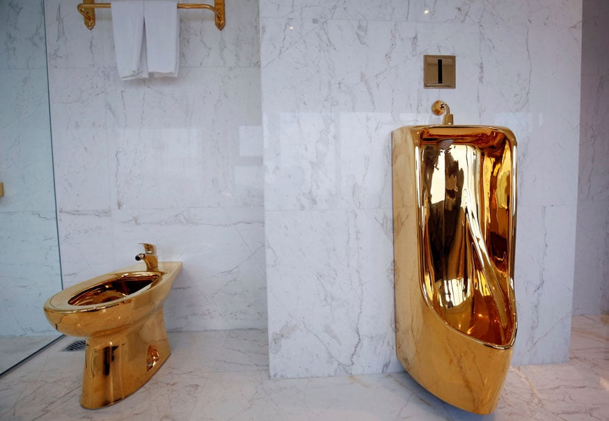 toilet made of gold. Everything Is Made Out Of Gold In This Vietnam S Hotel  See Pics Photogallery