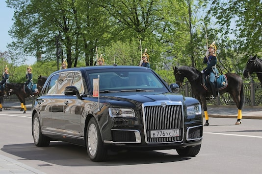 A view shows the new President Vladimir Putin's Russian-made limousine, part of the Cortege project, before an inauguration ceremony at the Kremlin in Moscow. (Image: Reuters)
