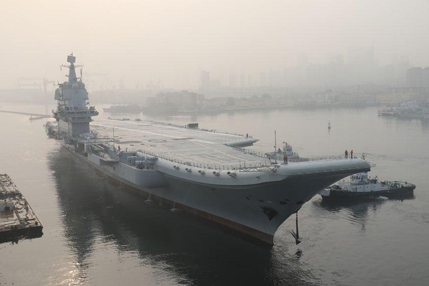 China Confirms First Domestically Built Aircraft Carrier Sailed Through Taiwan Strait