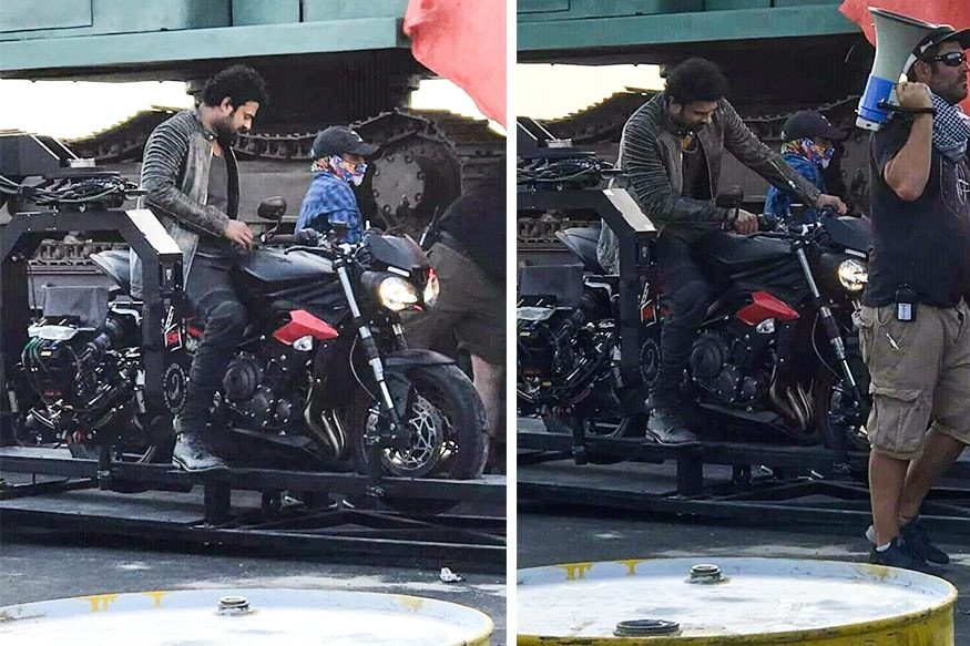 Image result for Actor Prabhas Spotted On A Triumph Street