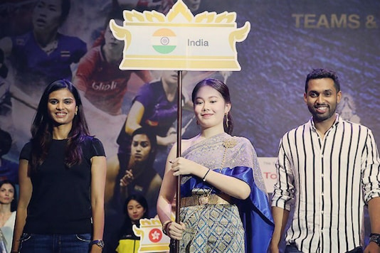Representatives of Indian team at the Thomas and Uber Cup opening ceremony (Image: BAI Media)