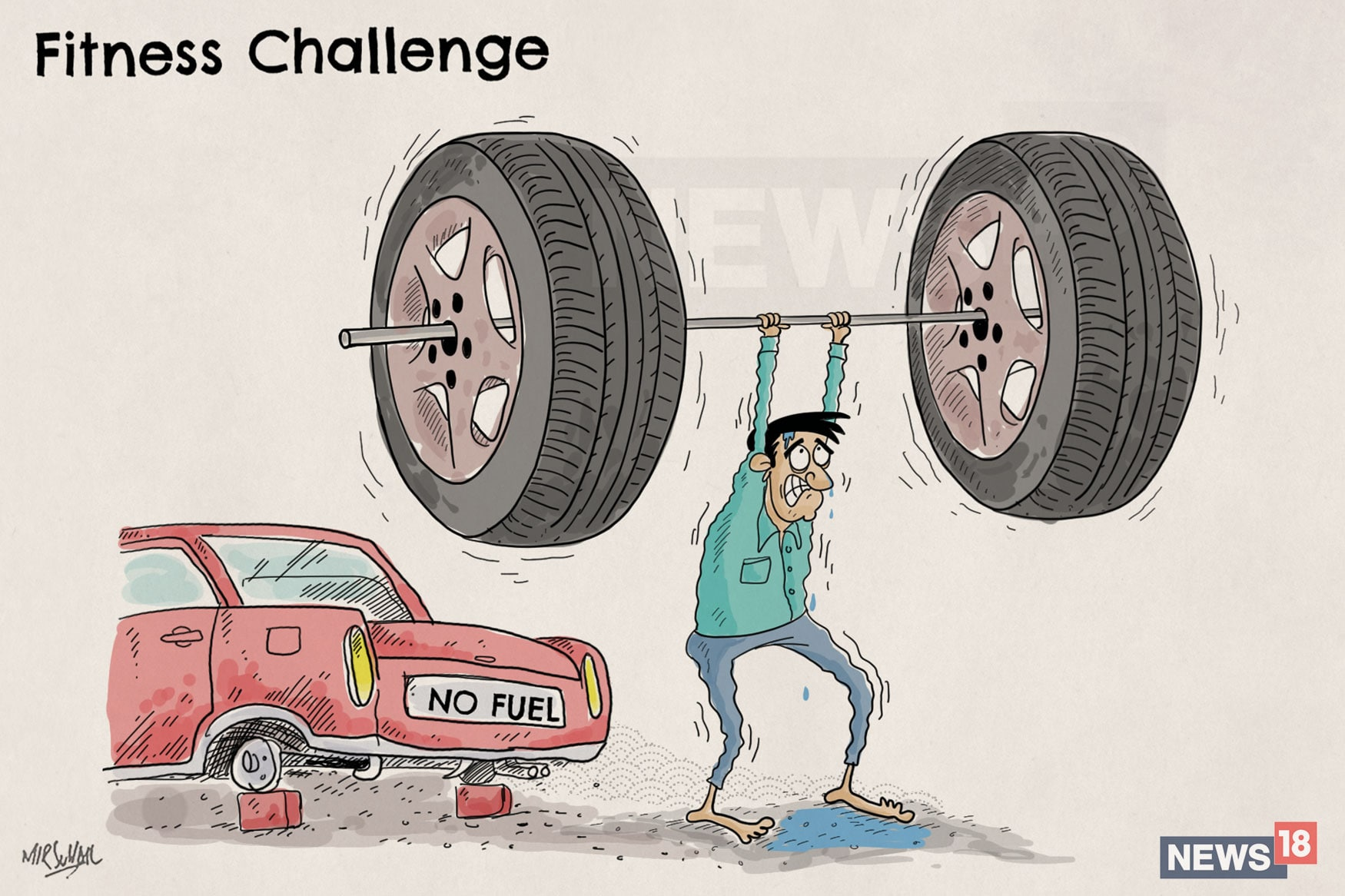 Fitness-Challenge-Cartoon
