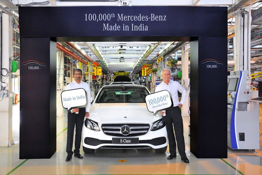 Mercedes Benz Rolls Out 100,000th Made In India Car From Pune Facility    News18
