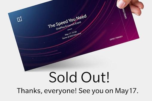 OnePlus 6 India Launch Passes. (Image: OnePlus India Twitter)