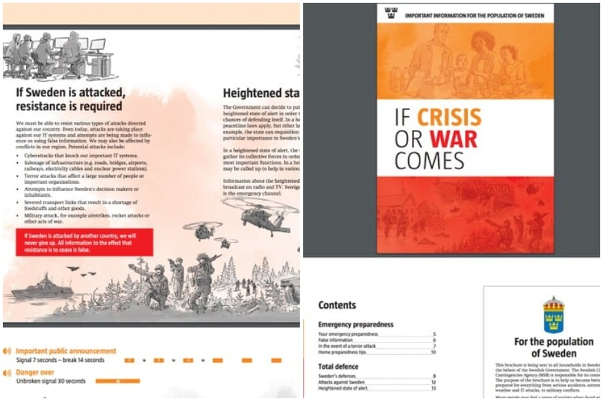 Fearing Russian Offensive, Sweden Tells Citizens to Prepare for Conflict in Cold War-Style Booklet