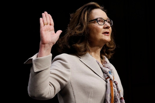 Acting CIA Director Gina Haspel is sworn in prior to testifying at her Senate Intelligence Committee confirmation hearing on Capitol Hill in Washington, U.S., May 9, 2018. REUTERS/Aaron P. Bernstein