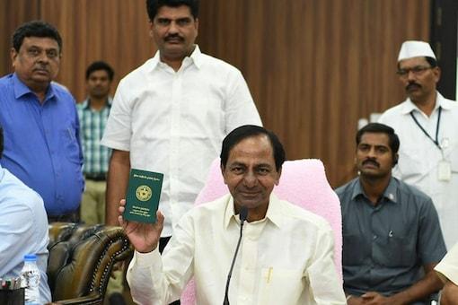 File photo of Telangana CM K Chandrasekhar Rao. (News18)
