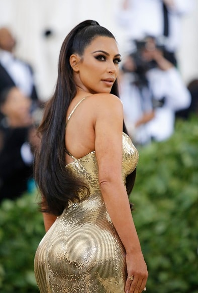 "Kim Kardashian arrives at the Metropolitan Museum of Art Costume Institute Gala (Met Gala) to celebrate the opening of ""Heavenly Bodies: Fashion and the Catholic Imagination"" in the Manhattan borough of New York, U.S., May 7, 2018."