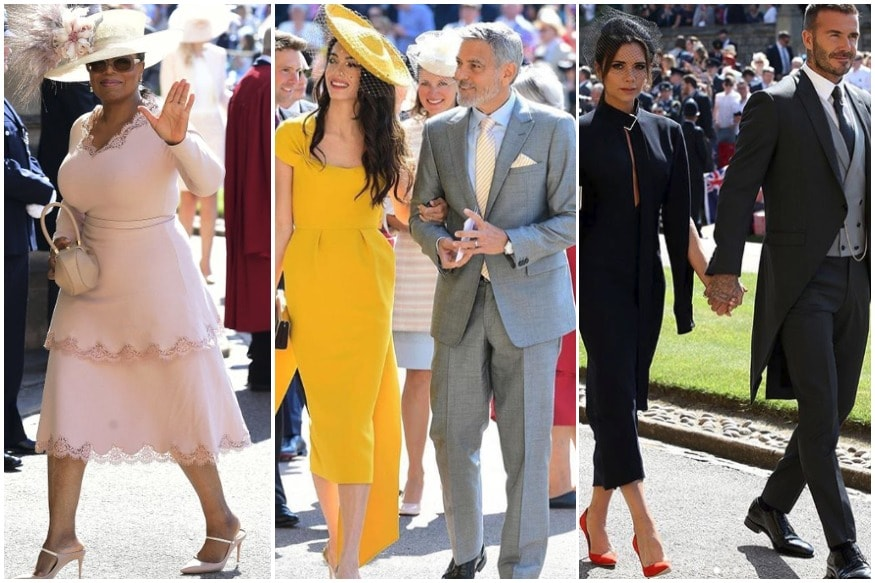 oprah clooneys beckhams among vip guests at prince harry meghan markle s royal wedding oprah clooneys beckhams among vip