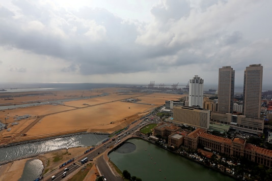 A general view of Colombo Port City construction site in Colombo, Sri Lanka. (REUTERS)