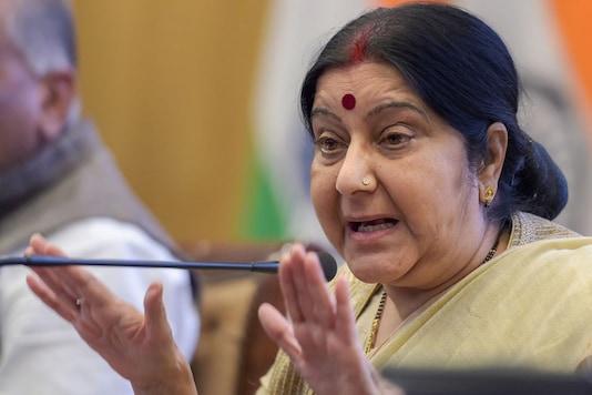 File photo of External Affairs Minister Sushma Swaraj. (Image: PTI)