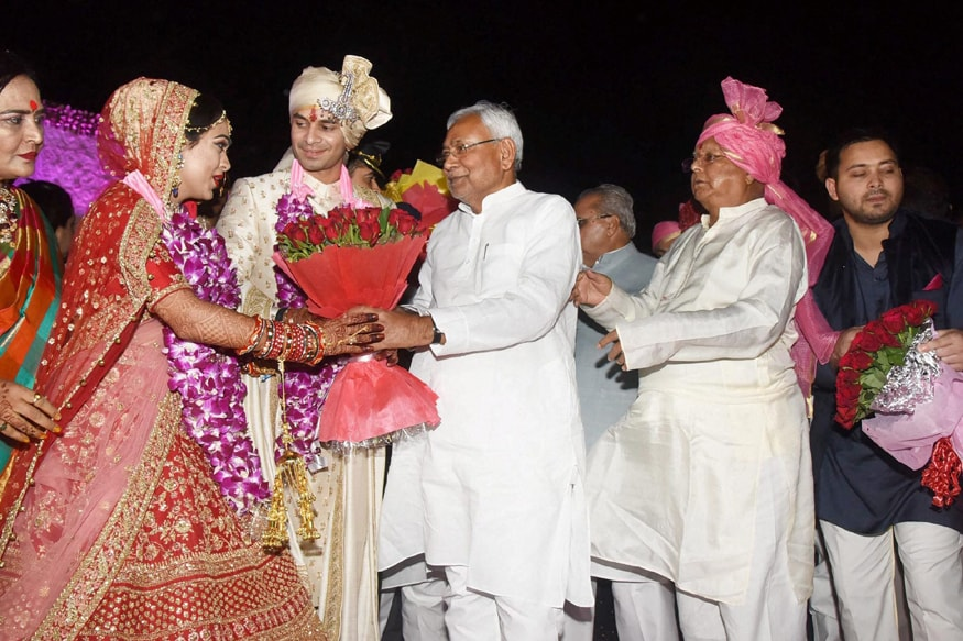 Nitish Kumar Attends Lalu's Son's Wedding, Gets Loud Cheer at Entrance