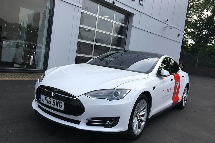 Tesla Model S mobile service car. (Image: AFP Relaxnews)