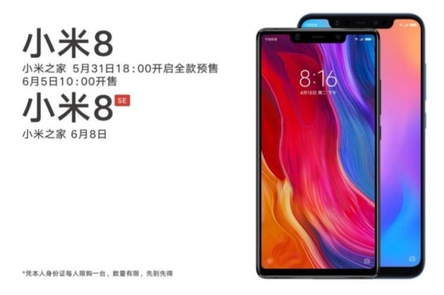 Xiaomi Mi 8 SE With Notch Display, Dual Read Camera Launched