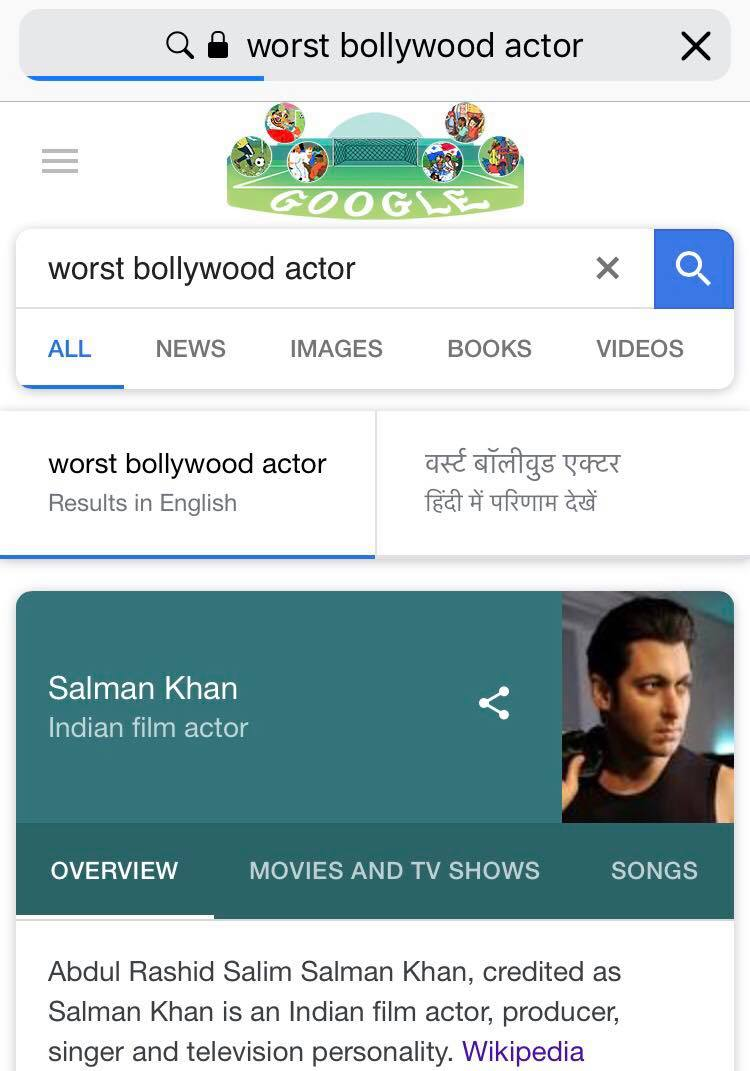 Why Does Google Think Salman Khan Is The Worst Bollywood Actor