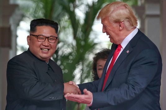 File photo: Donald Trump and Kim Jong-Un at the first summit.