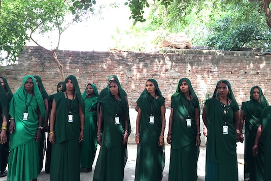 Members of Green Gang.  The all-women group was first formed in 2015.