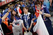 Tearful Japan Fans Clean Stadium Despite Defeat to Belgium